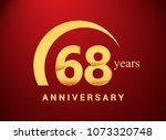 68 years golden anniversary... | Shutterstock .eps vector #1073320748