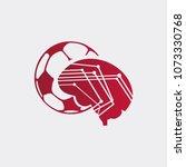 ball bet logo template  ball... | Shutterstock .eps vector #1073330768