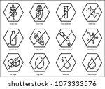 set ingredient warning label... | Shutterstock .eps vector #1073333576
