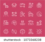 collection of line white icons... | Shutterstock .eps vector #1073368238