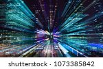 hi tech abstract background.... | Shutterstock . vector #1073385842