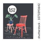 interior design vector...   Shutterstock .eps vector #1073393642