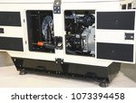 diesel generator with open... | Shutterstock . vector #1073394458