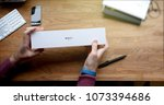 paris  france   apr 12 2018 ... | Shutterstock . vector #1073394686