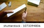 paris  france   apr 12 2018 ...   Shutterstock . vector #1073394806