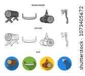 circular saw  a working...   Shutterstock .eps vector #1073405672