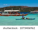 coron palawan philippines april ...   Shutterstock . vector #1073406962