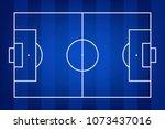 football field or soccer field... | Shutterstock .eps vector #1073437016