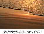 khlong wan beach in sunset time ... | Shutterstock . vector #1073471732