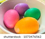easter eggs are decorated eggs... | Shutterstock . vector #1073476562