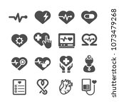 heart icons. medical and... | Shutterstock .eps vector #1073479268