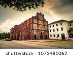 Ancient Basilica of Bom Jesus church at Goa, India.