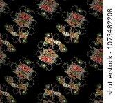 flat flower elements design....   Shutterstock .eps vector #1073482208
