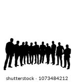 vector  isolated silhouette of... | Shutterstock .eps vector #1073484212