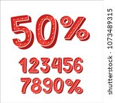 cartoon comic art numbers and...   Shutterstock .eps vector #1073489315