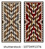 american indians tribal blanket ...   Shutterstock .eps vector #1073491376