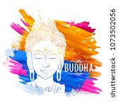 illustration of lord buddha in... | Shutterstock .eps vector #1073502056