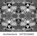 ethnic design. striped... | Shutterstock . vector #1073518682
