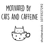 Stock photo motivated by cats and caffeine 1073527292