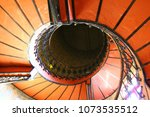 Small photo of the vintage spiral staircase in the Fran cecastle