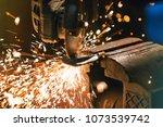 working metal grinder or... | Shutterstock . vector #1073539742
