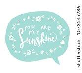 unique hand drawn lettering ...   Shutterstock .eps vector #1073545286
