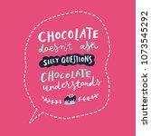 unique hand drawn quote ... | Shutterstock .eps vector #1073545292