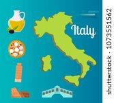 italy travel map vector... | Shutterstock .eps vector #1073551562