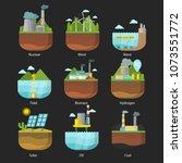 generation energy types power... | Shutterstock .eps vector #1073551772
