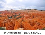 panoramic view the bryce canyon ... | Shutterstock . vector #1073556422