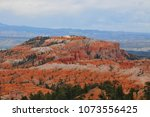 panoramic view the bryce canyon ... | Shutterstock . vector #1073556425