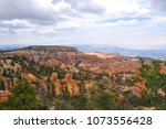 panoramic view the bryce canyon ... | Shutterstock . vector #1073556428