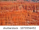 panoramic view the bryce canyon ... | Shutterstock . vector #1073556452