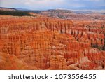 panoramic view the bryce canyon ... | Shutterstock . vector #1073556455