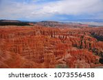 panoramic view the bryce canyon ... | Shutterstock . vector #1073556458