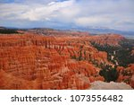 panoramic view the bryce canyon ... | Shutterstock . vector #1073556482