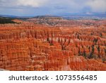 panoramic view the bryce canyon ... | Shutterstock . vector #1073556485