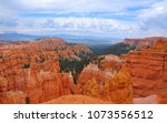 panoramic view the bryce canyon ... | Shutterstock . vector #1073556512