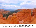 panoramic view the bryce canyon ... | Shutterstock . vector #1073556515