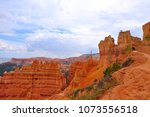 panoramic view the bryce canyon ... | Shutterstock . vector #1073556518