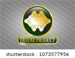 gold badge with business... | Shutterstock .eps vector #1073577956