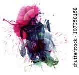 multicolor stain | Shutterstock . vector #107358158