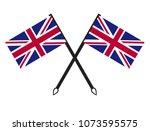 united kingdom flag | Shutterstock .eps vector #1073595575