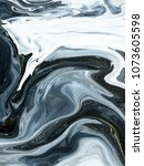 black and white marble abstract ... | Shutterstock . vector #1073605598