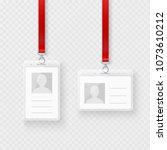 identification personal blank ...   Shutterstock . vector #1073610212