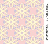 floral pale pink seamless... | Shutterstock .eps vector #1073615582