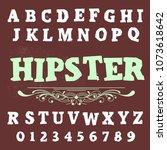 vector set of handwritten abc... | Shutterstock .eps vector #1073618642