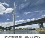 new bridge in belgrade  serbia | Shutterstock . vector #107361992