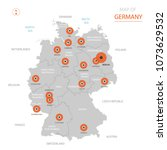 stylized vector germany map... | Shutterstock .eps vector #1073629532