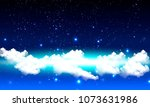 cloudy starry night sky | Shutterstock .eps vector #1073631986